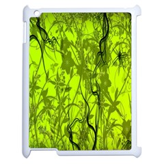 Concept Art Spider Digital Art Green Apple Ipad 2 Case (white) by Simbadda