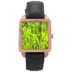 Concept Art Spider Digital Art Green Rose Gold Leather Watch
