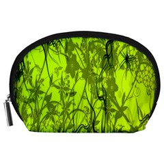 Concept Art Spider Digital Art Green Accessory Pouches (large)  by Simbadda