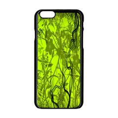Concept Art Spider Digital Art Green Apple Iphone 6/6s Black Enamel Case