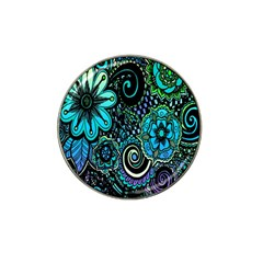Sun Set Floral Hat Clip Ball Marker by Simbadda