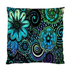 Sun Set Floral Standard Cushion Case (two Sides) by Simbadda