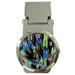 Abstract 3d Blender Colorful Money Clip Watches Front