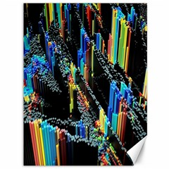 Abstract 3d Blender Colorful Canvas 36  X 48