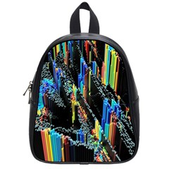 Abstract 3d Blender Colorful School Bags (small)  by Simbadda
