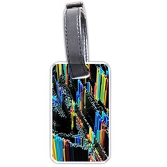 Abstract 3d Blender Colorful Luggage Tags (one Side)  by Simbadda