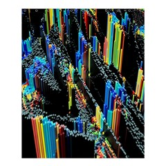 Abstract 3d Blender Colorful Shower Curtain 60  X 72  (medium)  by Simbadda