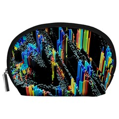 Abstract 3d Blender Colorful Accessory Pouches (large)