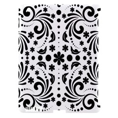 Leaf Flower Floral Black Apple Ipad 3/4 Hardshell Case (compatible With Smart Cover) by Alisyart