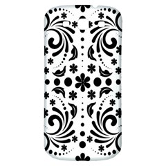 Leaf Flower Floral Black Samsung Galaxy S3 S Iii Classic Hardshell Back Case by Alisyart