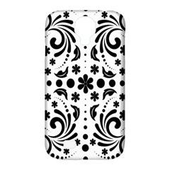 Leaf Flower Floral Black Samsung Galaxy S4 Classic Hardshell Case (pc+silicone) by Alisyart
