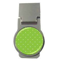 Mages Pinterest Green White Polka Dots Crafting Circle Money Clips (round)