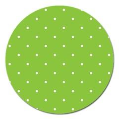 Mages Pinterest Green White Polka Dots Crafting Circle Magnet 5  (round) by Alisyart