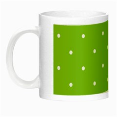 Mages Pinterest Green White Polka Dots Crafting Circle Night Luminous Mugs by Alisyart