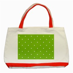 Mages Pinterest Green White Polka Dots Crafting Circle Classic Tote Bag (red) by Alisyart