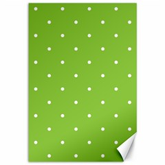 Mages Pinterest Green White Polka Dots Crafting Circle Canvas 12  X 18