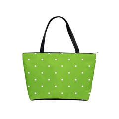 Mages Pinterest Green White Polka Dots Crafting Circle Shoulder Handbags