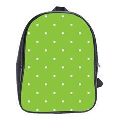 Mages Pinterest Green White Polka Dots Crafting Circle School Bags(large)  by Alisyart