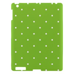 Mages Pinterest Green White Polka Dots Crafting Circle Apple Ipad 3/4 Hardshell Case