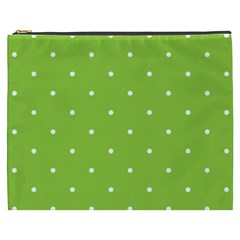Mages Pinterest Green White Polka Dots Crafting Circle Cosmetic Bag (xxxl)