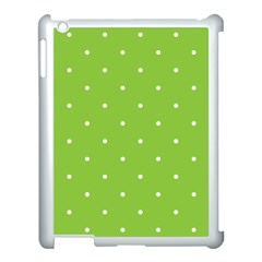 Mages Pinterest Green White Polka Dots Crafting Circle Apple Ipad 3/4 Case (white)