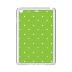 Mages Pinterest Green White Polka Dots Crafting Circle Ipad Mini 2 Enamel Coated Cases