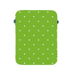 Mages Pinterest Green White Polka Dots Crafting Circle Apple Ipad 2/3/4 Protective Soft Cases