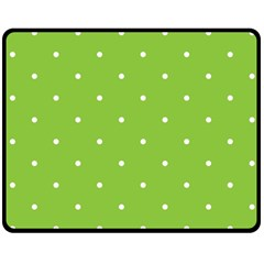 Mages Pinterest Green White Polka Dots Crafting Circle Double Sided Fleece Blanket (medium)  by Alisyart