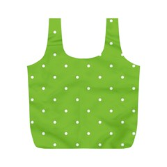 Mages Pinterest Green White Polka Dots Crafting Circle Full Print Recycle Bags (m)  by Alisyart