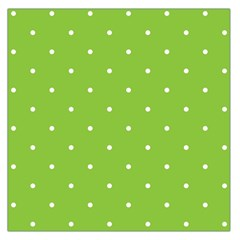 Mages Pinterest Green White Polka Dots Crafting Circle Large Satin Scarf (square)