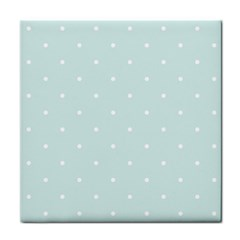 Mages Pinterest White Blue Polka Dots Crafting  Circle Tile Coasters by Alisyart