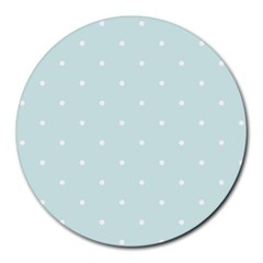 Mages Pinterest White Blue Polka Dots Crafting  Circle Round Mousepads