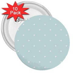 Mages Pinterest White Blue Polka Dots Crafting  Circle 3  Buttons (10 Pack)  by Alisyart