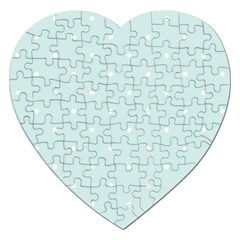 Mages Pinterest White Blue Polka Dots Crafting  Circle Jigsaw Puzzle (heart)