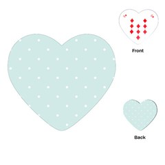 Mages Pinterest White Blue Polka Dots Crafting  Circle Playing Cards (heart)