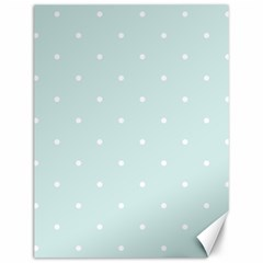 Mages Pinterest White Blue Polka Dots Crafting  Circle Canvas 12  X 16   by Alisyart