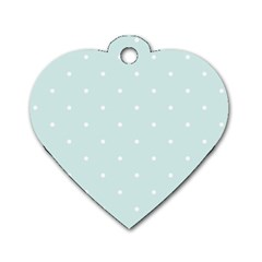 Mages Pinterest White Blue Polka Dots Crafting  Circle Dog Tag Heart (one Side) by Alisyart