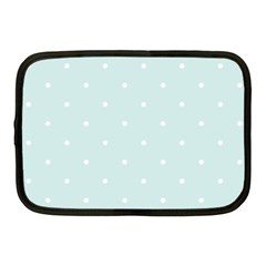 Mages Pinterest White Blue Polka Dots Crafting  Circle Netbook Case (medium)  by Alisyart