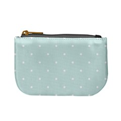 Mages Pinterest White Blue Polka Dots Crafting  Circle Mini Coin Purses