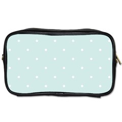Mages Pinterest White Blue Polka Dots Crafting  Circle Toiletries Bags 2 Side