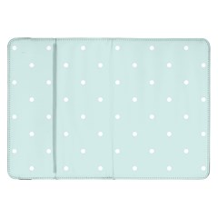 Mages Pinterest White Blue Polka Dots Crafting  Circle Samsung Galaxy Tab 8 9  P7300 Flip Case by Alisyart