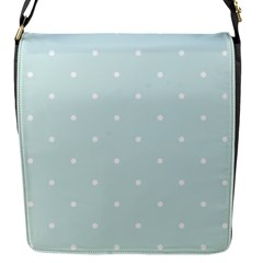 Mages Pinterest White Blue Polka Dots Crafting  Circle Flap Messenger Bag (s)