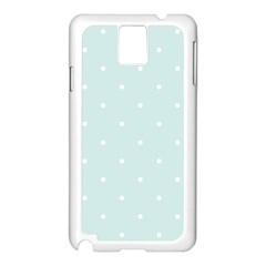 Mages Pinterest White Blue Polka Dots Crafting  Circle Samsung Galaxy Note 3 N9005 Case (white) by Alisyart