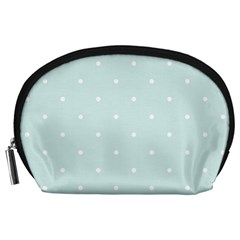 Mages Pinterest White Blue Polka Dots Crafting  Circle Accessory Pouches (large)  by Alisyart