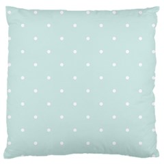 Mages Pinterest White Blue Polka Dots Crafting  Circle Standard Flano Cushion Case (one Side) by Alisyart