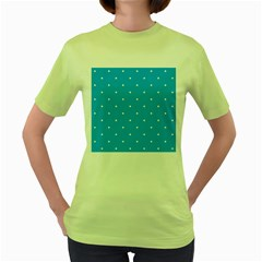 Mages Pinterest White Blue Polka Dots Crafting Circle Women s Green T Shirt