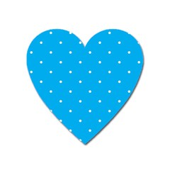 Mages Pinterest White Blue Polka Dots Crafting Circle Heart Magnet by Alisyart