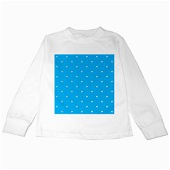 Mages Pinterest White Blue Polka Dots Crafting Circle Kids Long Sleeve T Shirts