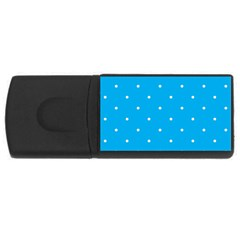Mages Pinterest White Blue Polka Dots Crafting Circle Usb Flash Drive Rectangular (4 Gb)
