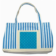 Mages Pinterest White Blue Polka Dots Crafting Circle Striped Blue Tote Bag by Alisyart
